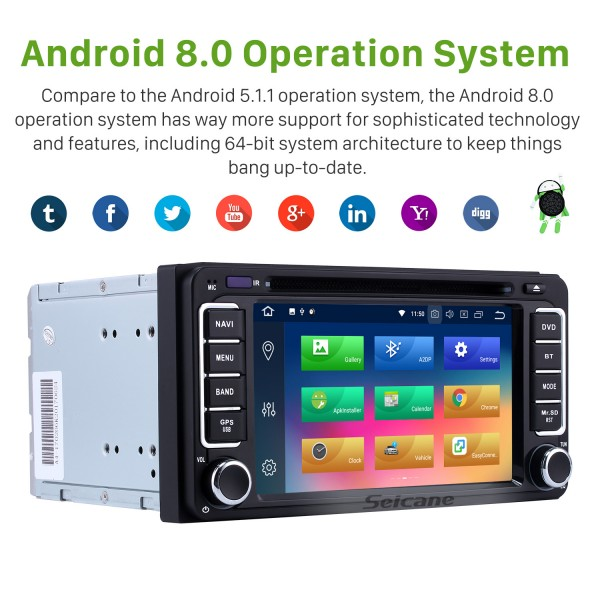 HD Touchscreen 2006-2010 Toyota Terios Android 9.0 Radio DVD GPS navigation system with Mirror link Bluetooth OBD2 DVR Rearview Camera Steering Wheel Control 3G WIFI 1080P