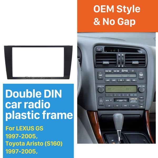 Classic 2Din 1997-2005 LEXUS GS Toyota Aristo S160 Car Radio Fascia Auto Stereo CD Fitting Frame DVD Player