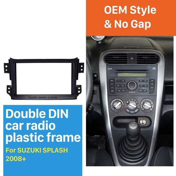 Black Double Din 2008-2014 Suzuki Splash Car Radio Fascia Autostereo Panel Kit Dash CD Plate Frame