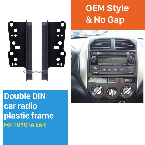 Easy-to-Install 10mm 2Din Toyota Ear Sides Car Radio Fascia Dash CD Trim Installation Kit Surrounded Frame Dashboard Panel