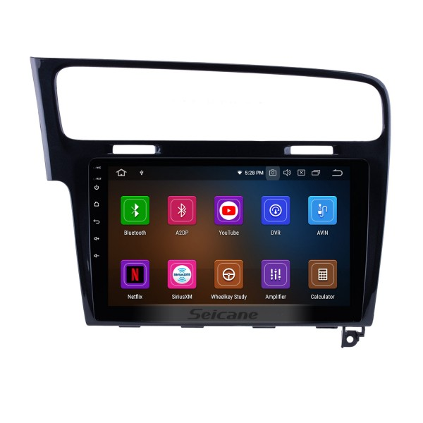 10.1 Inch OEM Android 9.0 Radio GPS Navigation system For 2013 2014 2015 VW Volkswagen GOLF 7 Bluetooth HD Touch Screen WiFi Music SWC TPMS DVR OBD II Rear camera AUX 1080P Video USB Carplay