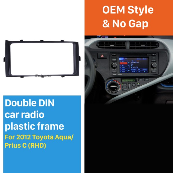 Best Double 2Din 2012 Toyota Aqua Prius C RHD Car Radio Fascia Audio Player Dash Kit Trim Install Frame