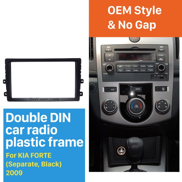 Separate Double Din 2009 KIA FORTE Car Radio Fascia DVD Frame CD Trim Installation Panel Adaptor