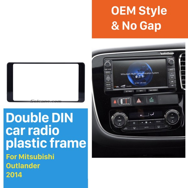 Hot Sell 2Din 2014 Mitsubishi Outlander Car Radio Fascia Auto Stereo Interface Panel Trim Installation frame Kit