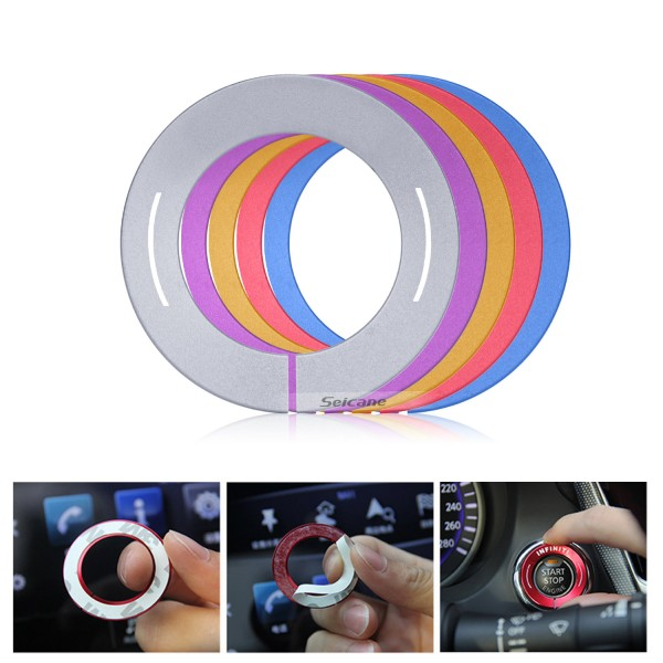 Multiple Colors Engine Start Button Decoration Sticker for Infiniti Car Styling Aluminum Alloy Ring Trim