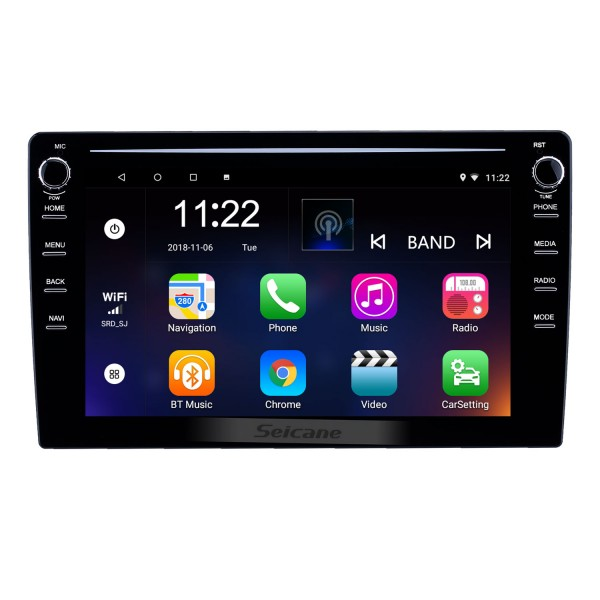 HD Touchscreen 9 inch Android 8.1 GPS Navigation Universal Radio with Bluetooth AUX WIFI USB support DVR Carplay OBD2 DAB+