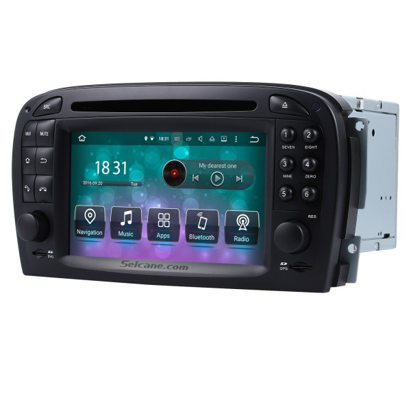 Android 9.0 GPS Navigation system for 2001-2004 Mercedes SL R230 SL350 SL500 SL55 SL600 SL65 with DVD Player Touch Screen Radio Bluetooth WiFi TV HD 1080P Video Backup Camera steering wheel control USB SD