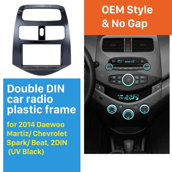 2 DIN 2014 Daewoo Martiz Chevrolet Spark Beat Car Radio Fascia Dash DVD Player Stereo Installation Frame Trim Panel Kit