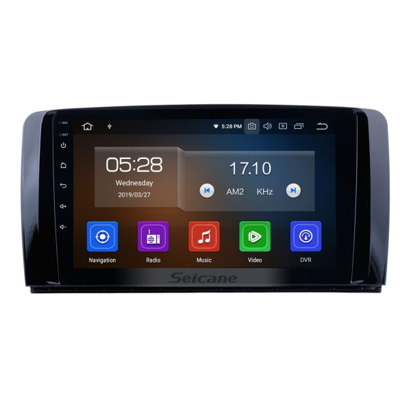 9 inch 2006-2013 Mercedes Benz R Class W251 R280 R300 R320 R350 R63 Android 10.0 HD Touchscreen Radio GPS Navigation system with Bluetooth WIFI USB 1080P Video OBD2 DVR Mirror Link Steering wheel control