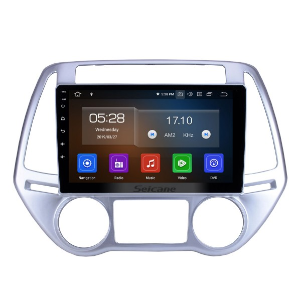 For 2012 2013 2014 Hyundai i20 Auto A/C Radio 9 inch Android 9.0 HD Touchscreen Bluetooth with GPS Navigation System Carplay support 1080P