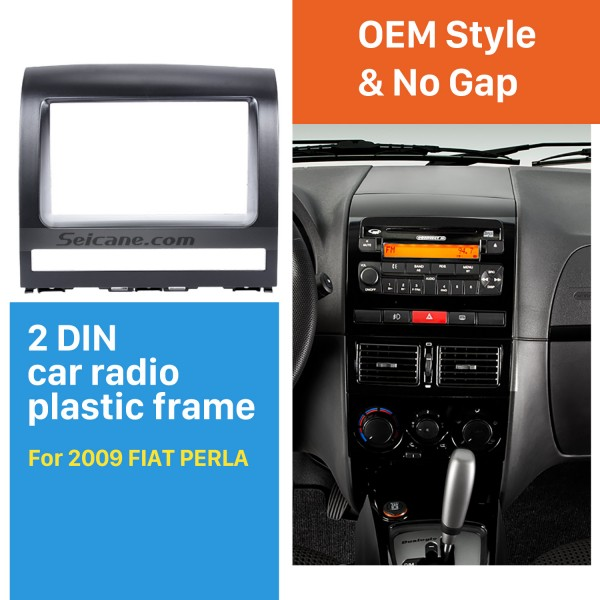 Superior Double Din Car Radio Fascia for 2009 FIAT PERLA Audio Frame CD Trim Panel Car Styling