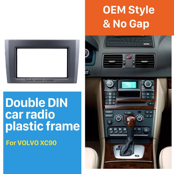 Great Double Din Car Radio Fascia for Volvo XC90 DVD Panel Trim Dash Audio Fitting Adaptor Auto Stereo Frame