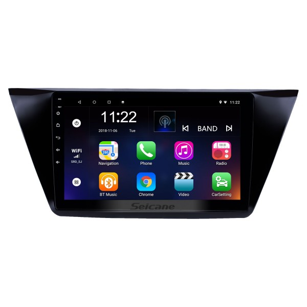 10.1 inch Android 8.1 GPS Navigation Radio for 2016-2018 VW Volkswagen Touran with HD Touchscreen Bluetooth WIFI support Carplay SWC