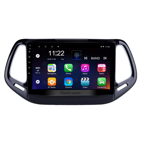 10.1 inch HD Touchscreen 2017 Jeep Compass Android 10.0 Head Unit GPS Navigation Radio with USB Bluetooth WIFI Support DVR OBD2 Backup Camera TPMS