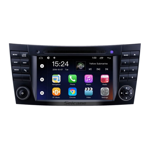 For 2001 2002 2003-2011 Mercedes Benz E-Class W211/CLK W209/G-Class W463/CLS W219 Radio 7 inch Android 9.0 GPS Navigation System with HD Touchscreen Bluetooth support Carplay