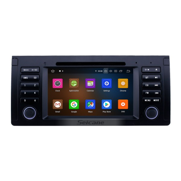 7 inch Android 9.0 GPS Navigation Radio for 1996-2003 BMW 5 Series E39 with USB AUX Bluetooth Wifi HD Touchscreen Carplay support TPMS Digital TV