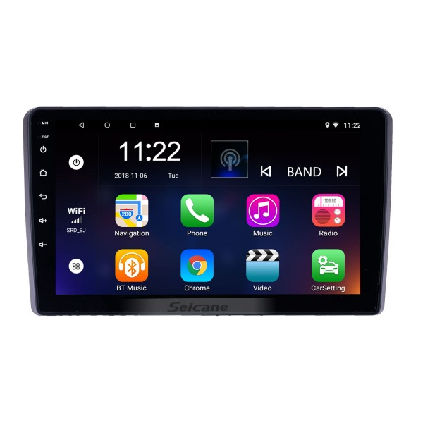 9 inch Android 8.1 GPS Navigation Radio for 2015 Mahindra Marazzo with Bluetooth WiFi HD Touchscreen support Carplay DVR OBD