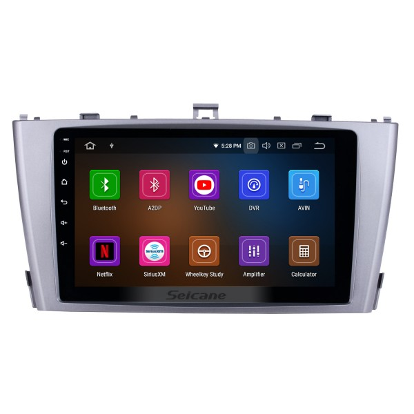OEM Style Android 10.0 9 inch GPS Navi system Head unit for 2009-2013 Toyota AVENSIS FM Radio RDS WIFI Bluetooth USB AUX support DVR DVD Player Rearview Camera SWC 1080P