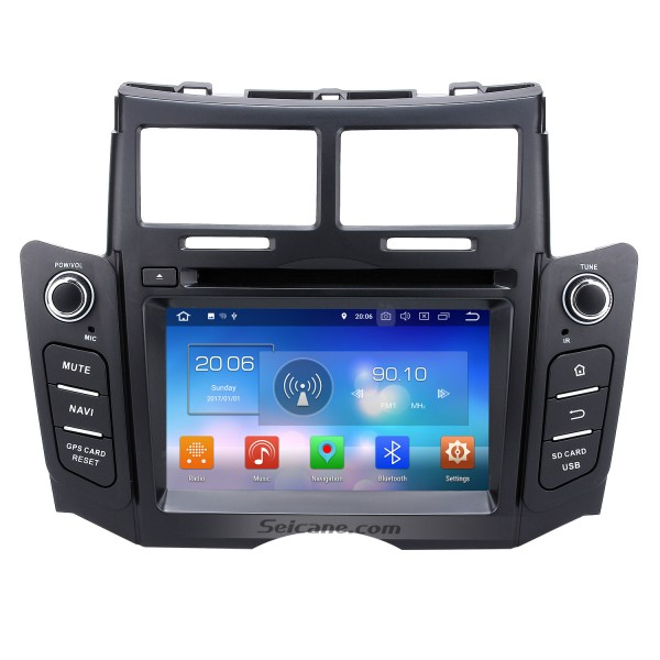 2005-2011 Toyota YARIS OEM Autoradio Touch Screen Android 8.0 GPS navigation system with Bluetooth Mirror link OBD DVR  TV USB SD 3G WIFI Rearview camera
