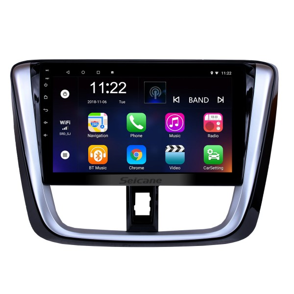 10.1 inch 2014 2015 2016 2017 TOYOTA VIOS Yaris Android 8.1 HD Touchscreen Radio Head Unit GPS Navigation System Support Bluetooth OBD II DVR 3G WIFI Rear view camera