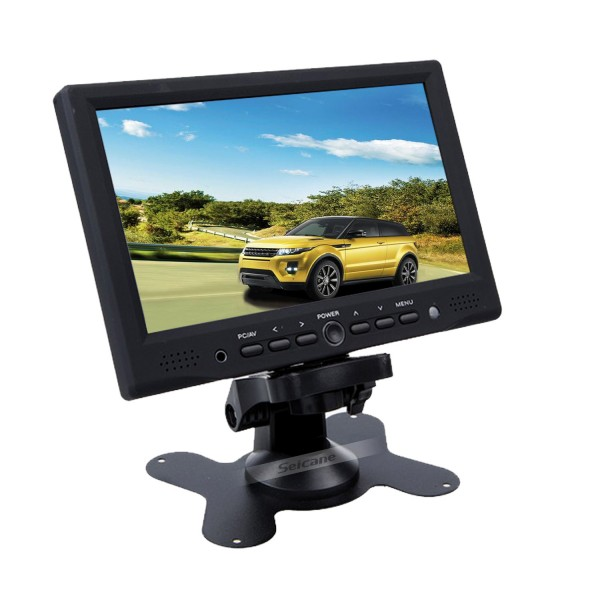 High Quality 7 inch 800*480 Screen Car TFT LCD Display Supports Car DVD VCD Camera VGA HDMI interface