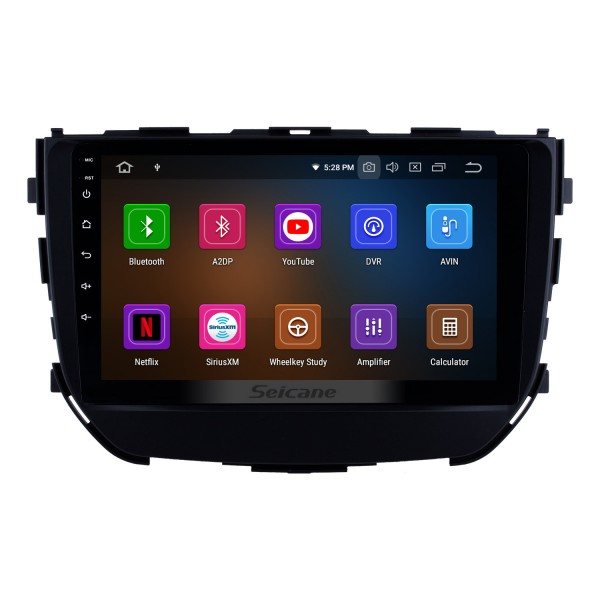 2016 2017 2018 Suzuki BREZZA 9 inch IPS Touchscreen Android 9.0 Radio GPS Navigation Steering Wheel Control Auto Stereo with Bluetooth Wifi USB support Carplay DVD Player 4G DVR