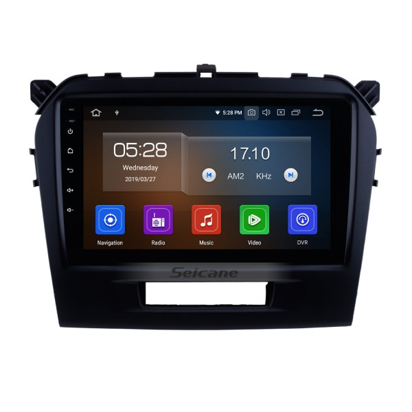 Android 9.0 2015 2016 SUZUKI GRAND VITARA Radio Replacement Navigation System 9 Inch Touch Screen Bluetooth MP3 Mirror Link OBD2 3G WiFi Steering Wheel Control