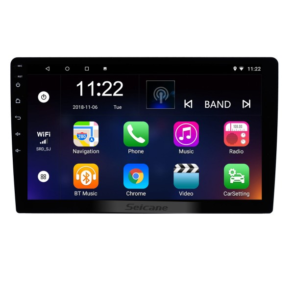 10.1 inch HD 1024*600 HD touchscreen Android 10.0 Universal GPS Navigation Bluetooth Car Audio System Support Mirror Link 3G WiFi Backup Camera DVR DAB+ Steering Wheel Control
