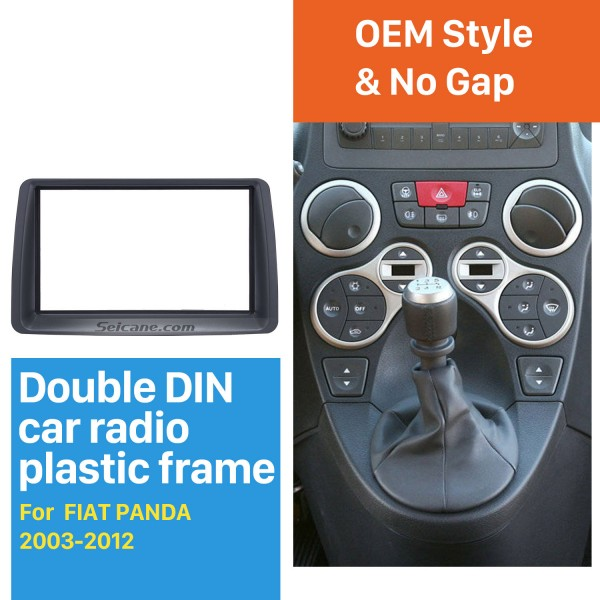 Delicate Double Din Car Radio Fascia for 2003-2012 FIAT PANDA Car Styling Autostereo Adapter Frame Panel