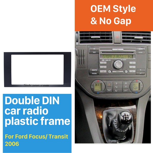 Elegant Double Din Car Radio Fascia for 2006 Ford Focus Transit Fitting Frame Dash Mount DVD Player