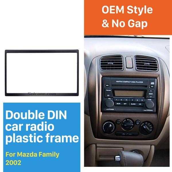 Popular 178*102 2Din 2002 Mazda Family Car Radio Fascia Dash Mount DVD Frame Panel Kit Car Stereo Installation