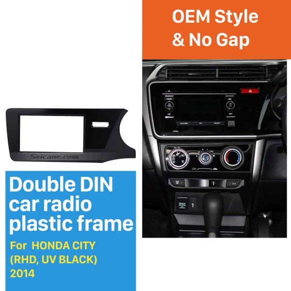 Best Quality Double Din 2014 Honda City RHD Car Radio Fascia Dash Kit Auto stereo Adapter Install Frame Dashboard Panel