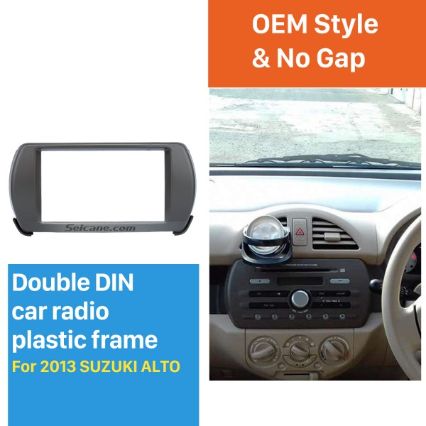 Latest Double Din 2013 Suzuki Alto Car Radio Fascia DVD Frame Panel Stereo Player Dash Trim Kits