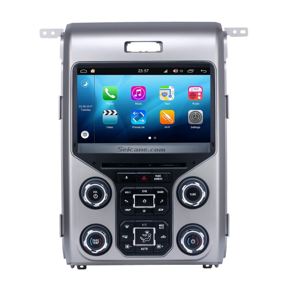 OEM Android 8.0 Radio GPS Navigation System for 2013 2014 2015 Ford F150 F250 F350 Expedition with OBD2 Bluetooth Mirror link DVD Player HD 1024*600 Touch Screen DVR TV Video WIFI USB SD Backup Camera