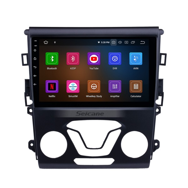 Android 9.0 9 inch Radio HD Touchscreen Bluetooth GPS Navi for 2012-2014 Ford Mondeo with Wifi music USB support DVD Carplay TPMS 4G 1080P Video