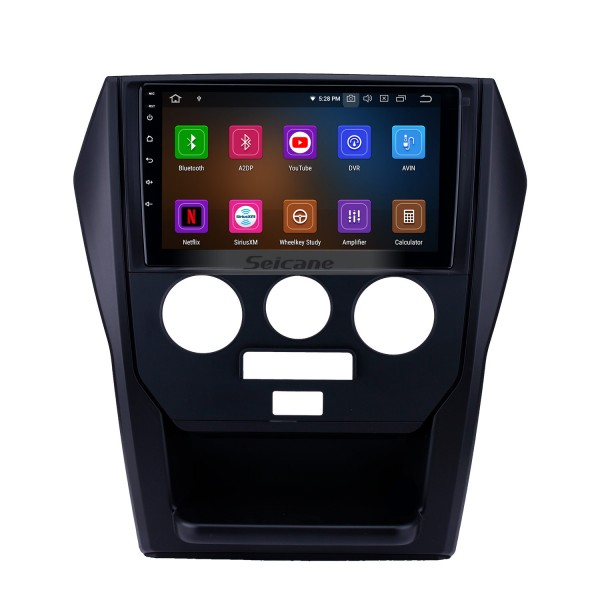 Android 9.0 9 inch GPS Navigation Radio for 2015 Mahindra Scorpio Manual A/C with HD Touchscreen Carplay Bluetooth WIFI USB AUX support TPMS OBD2