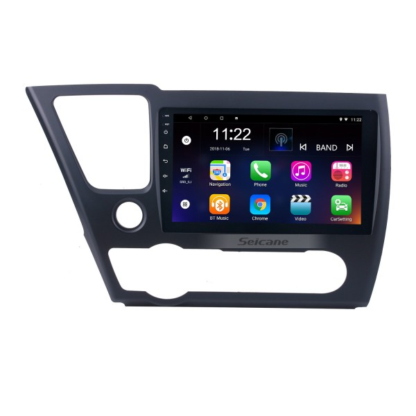 9 inch 2014 2015 2016 2017 HONDA CIVIC Android 8.1 HD Touchscreen Radio GPS Navigation head unit with Bluetooth WIFI Rearview camera AUX 1080P OBDII DVR Mirror Link