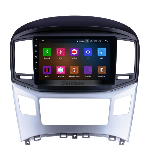 9 inch Android 9.0 2016 2017 HYUNDAI H1 Radio Upgrade GPS Navigation Car Stereo Touch Screen Bluetooth Mirror Link support OBD2 AUX 3G WiFi DVR 1080P Video  DVD Player