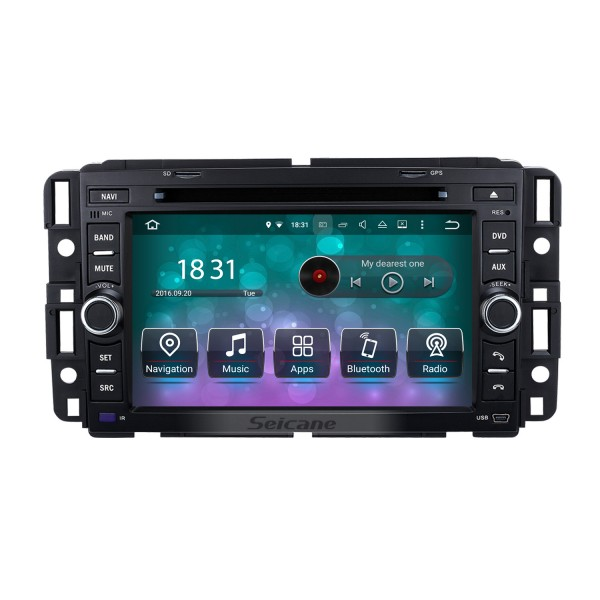 Android 9.0 Radio DVD GPS Navigation System 2007-2012 Buick Enclave with Bluetooth Steering Wheel Control Touchscreen AM FM Radio WiFi Mirror Link OBD2