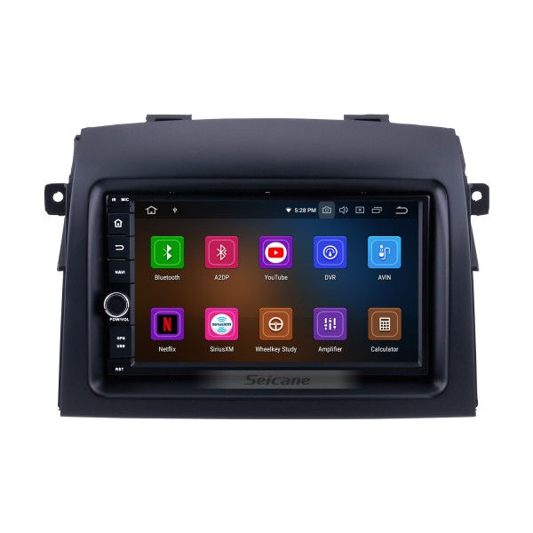 OEM Android 9.0 2004-2010 Toyota Sienna Radio GPS Navigation System with Bluetooth HD Touchscreen Mirror Link 4G WIFI AUX DVR 1080P DAB TPMS Backup Camera