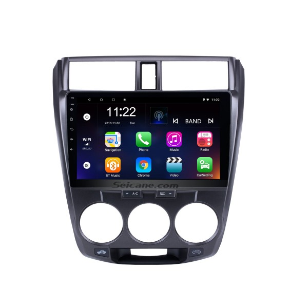 2006-2013 Honda CITY HD 1024*600 Touchscreen Android 10.0 Radio Car Stereo with GPS Navigation Bluetooth USB WIFI OBD2 1080P Rearview camera Mirror link
