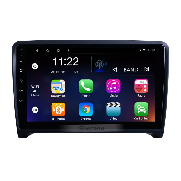 For 2006 2007 2008-2013 Audi TT Radio 9 inch Android 10.0 HD Touchscreen GPS Navigation System with Bluetooth support Carplay Rear camera