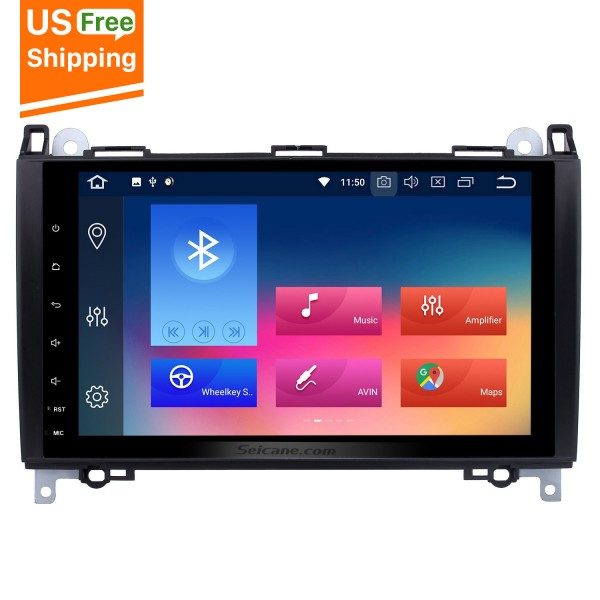 Aftermarket Navigation Android 8.0 GPS Radio Stereo Upgrade for 2004 2005 2006 2007-2012 Mercedes Benz B Class W245 B150 B160 B170 B180 B200 B55 Bluetooth WIFI Mirror Link 1080P Video Multimedia Player Support Steering Wheel Control Backup Camera OBD2