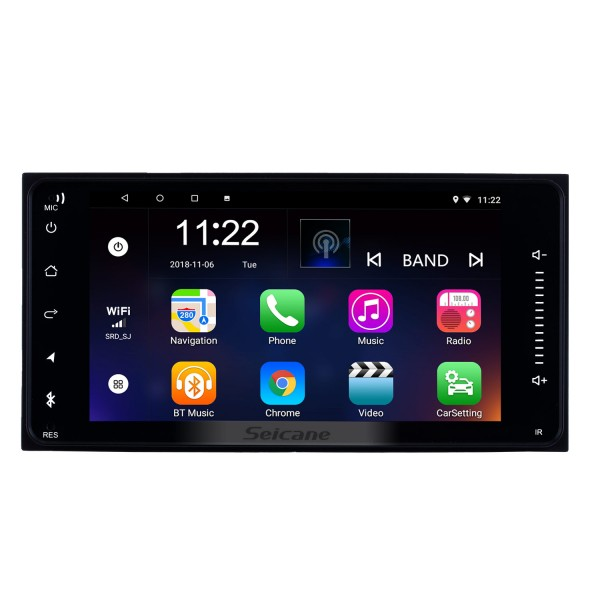 7 inch Android 8.1  TOYOTA YARIS universal HD Touchscreen Radio GPS Navigation System Support Bluetooth Carplay OBD2 DVR 3G WiFi Steering Wheel Control