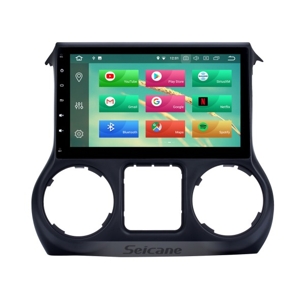 10.1 Inch 1024*600 Android 8.0 2011 2012 2013 2014 2015 2016 2017 JEEP Wrangler Bluetooth GPS Radio Car stereo with Mirror Link Wifi Steering Wheel Control