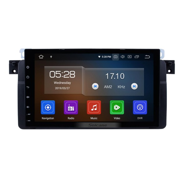 9 inch HD 1024*600 touchscreen for 1998-2006 BMW 3 Series M3 E46 316i 318i 320i 323i 325i MG ZT Rover 75 Android 9.0 Radio GPS Navigation System with WiFi Bluetooth Mirror Link