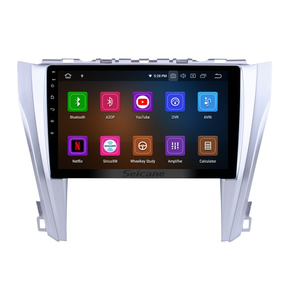 10.1 inch Android 9.0 GPS navigation system for 2015 2016 2017 Toyota CAMRY Bluetooth Mirror link Radio Capacitive multi-touch screen OBD DVR Rear view camera TV 3G WIFI USB SD