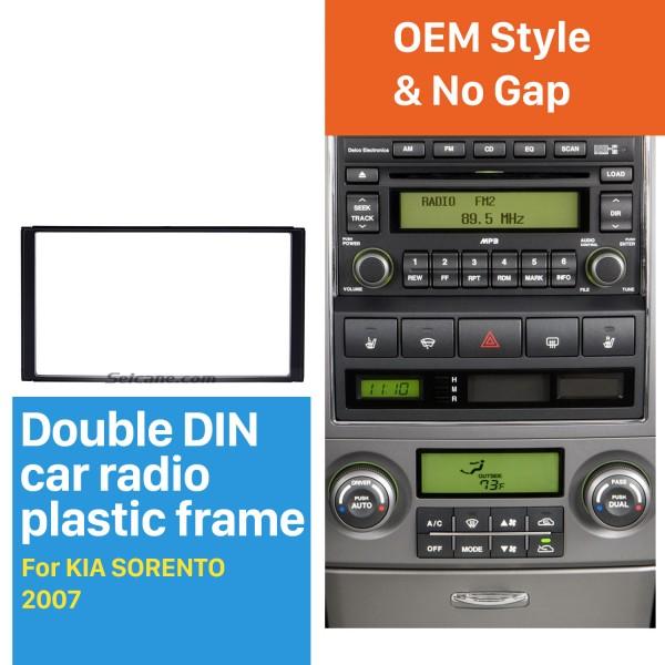 173*98mm Double Din 2007 KIA SORENTO Car Radio Fascia Dash Mount Car Refitting DVD frame Autostereo Adapter