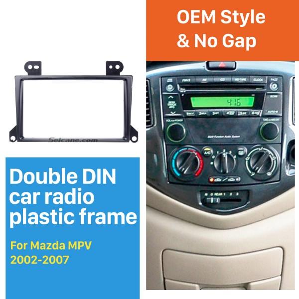 Popular 2Din 2002-2007 Mazda MPV Car Radio Fascia Dash Mount Trim Panel CD DVD Player Installation Frame