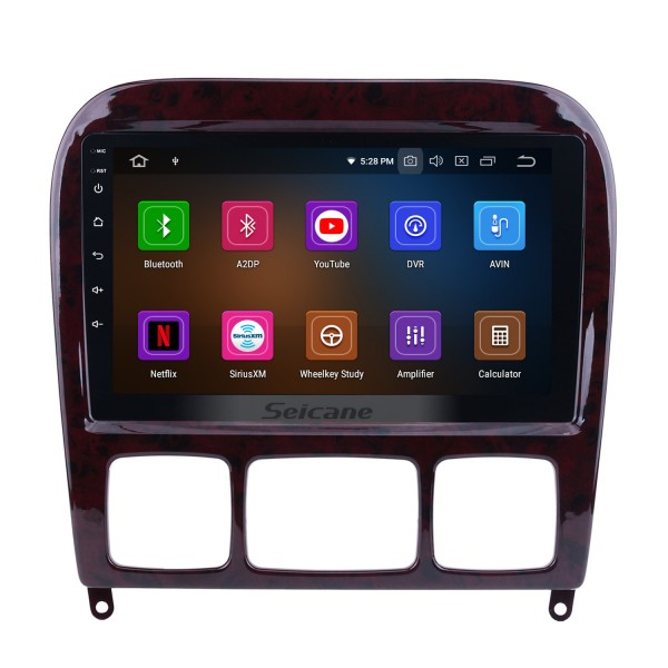 Android 9.0  Radio HD touchscreen GPS Navigation for 1998-2005 Mercedes-Benz CL-Class W215(CL600, CL550, CL55 AMG) with Bluetooth Music Audio Aux USB WIFI Steering Wheel Control Mirror Link 1080P